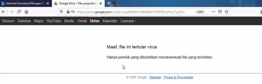 cara download file google drive terdeteksi